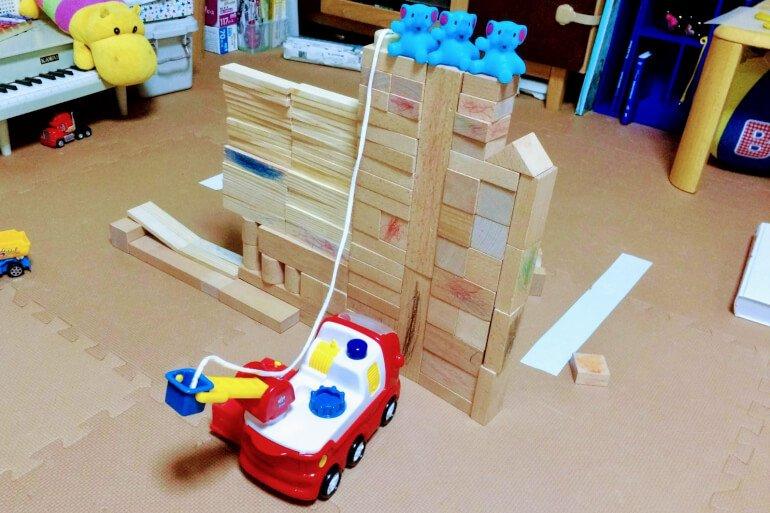2歳の積み木 - ごっご遊び
