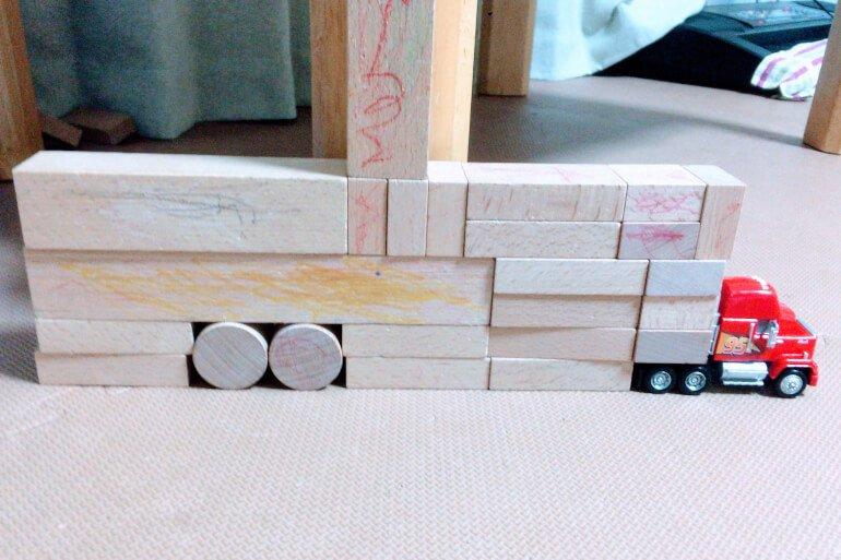 息子の積み木 - トレーラートラック