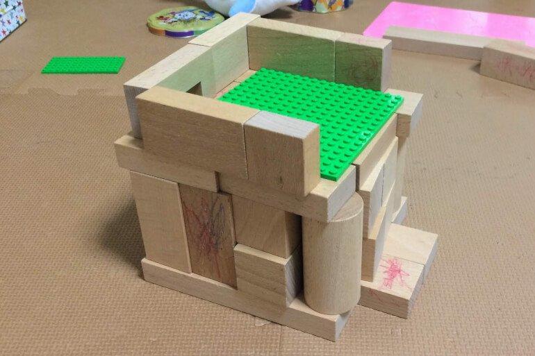 子供の積み木遊び3歳 - おうち