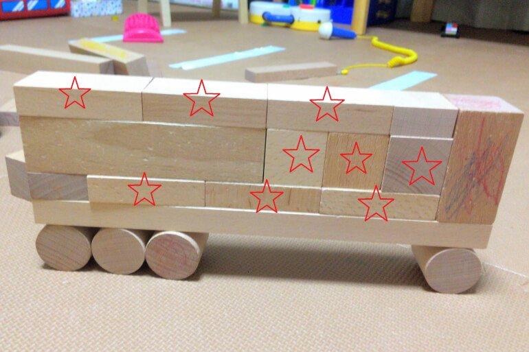 子供の積み木遊び3歳 - 直方体と立方体の比率