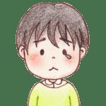 男の子のイラスト 悲しみ