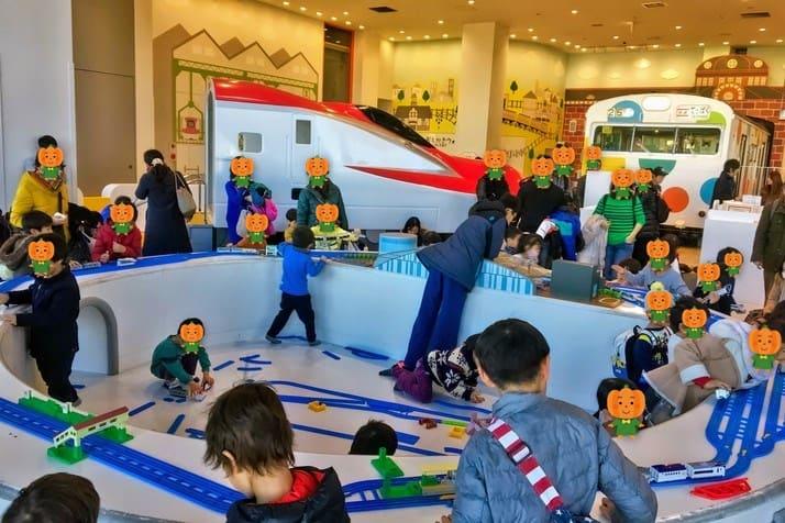 鉄道博物館(てっぱく)のプラレールゾーンの雰囲気