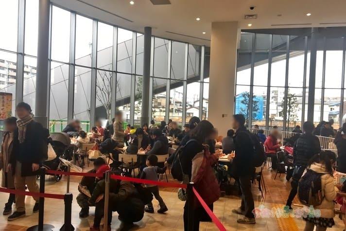 鉄道博物館(大宮)キッズカフェの混雑具合