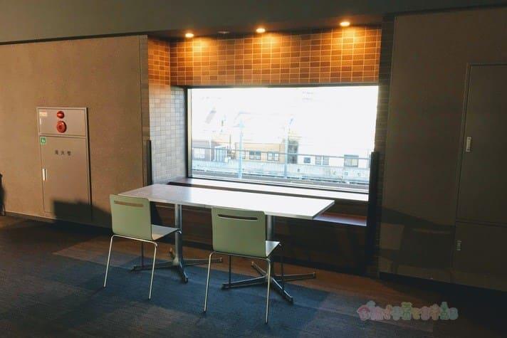 鉄道博物館駅(大宮)2階ランチスペース持ち込みOK