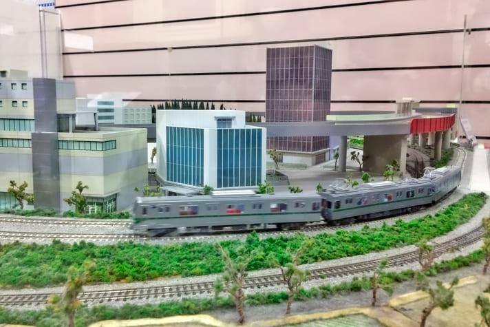 地下鉄博物館(ちかはく)自分で動かせる電車模型