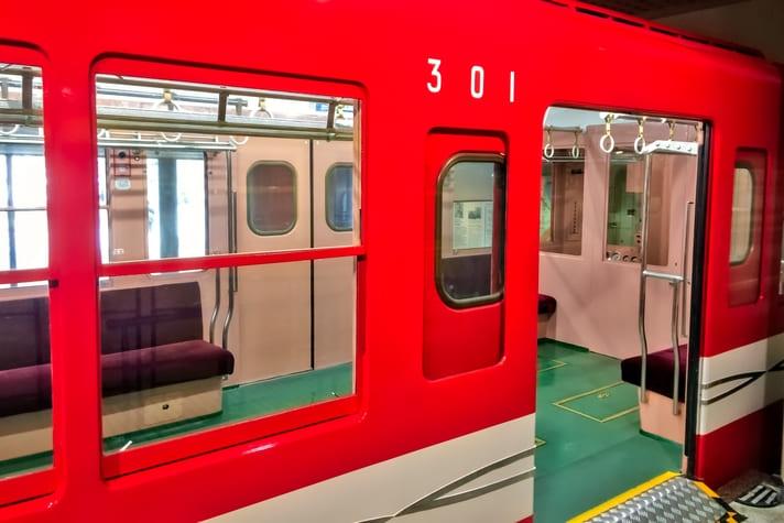地下鉄博物館(ちかはく)丸ノ内線第1号車の車内