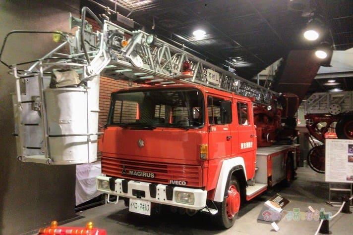 消防博物館のはしご車
