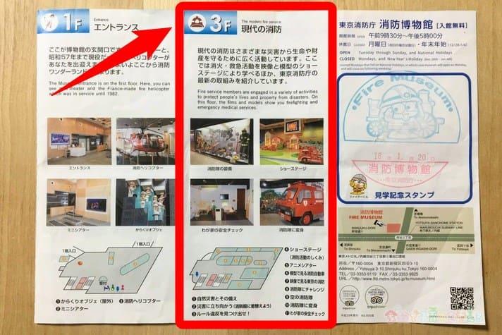 消防博物館のガイドブック
