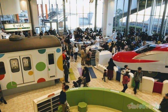 鉄道博物館(大宮)キッズプラザの混雑