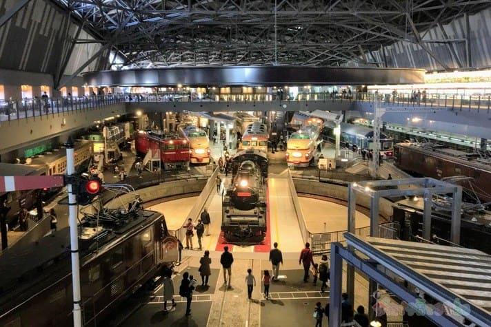 鉄道博物館(大宮)の車両ステーション