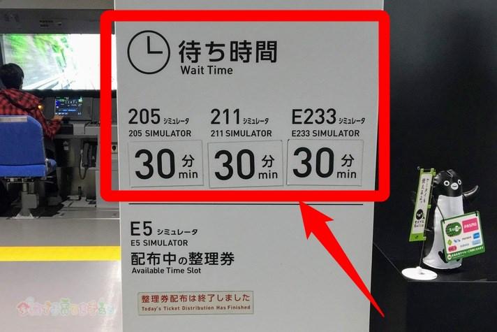 鉄道博物館(大宮)シミュレータホールの待ち時間