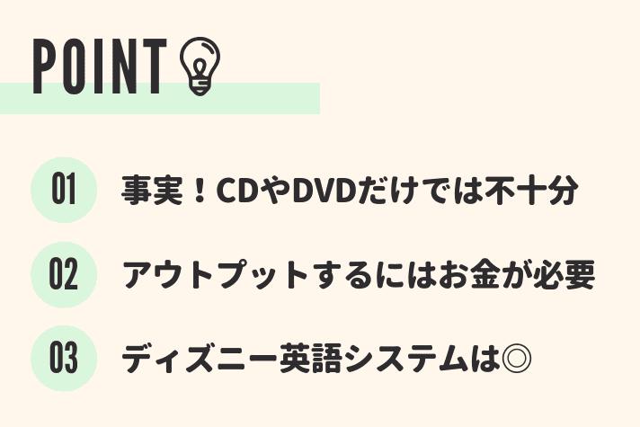 英語の習得はCDを聞いたりDVDを見たりするだけでは不十分