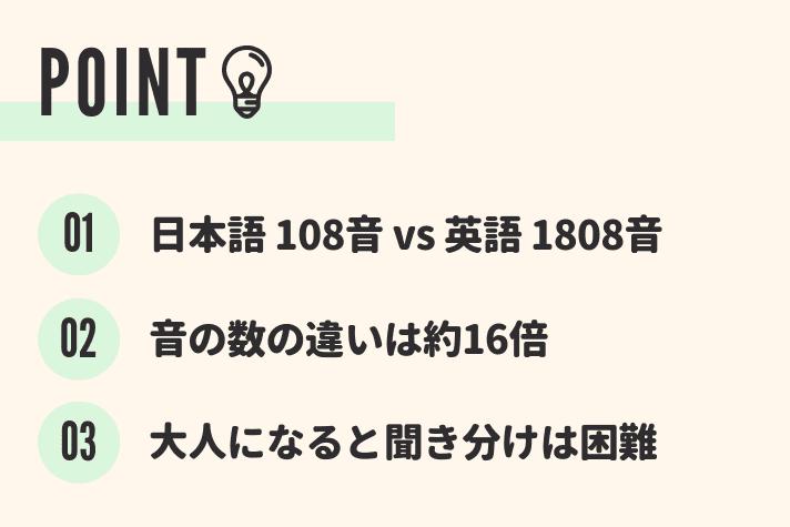 日本語と英語、音の数の違い