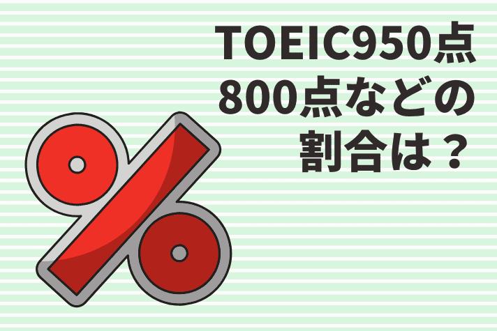 TOEIC800点以上や950点などのスコア別の割合は?